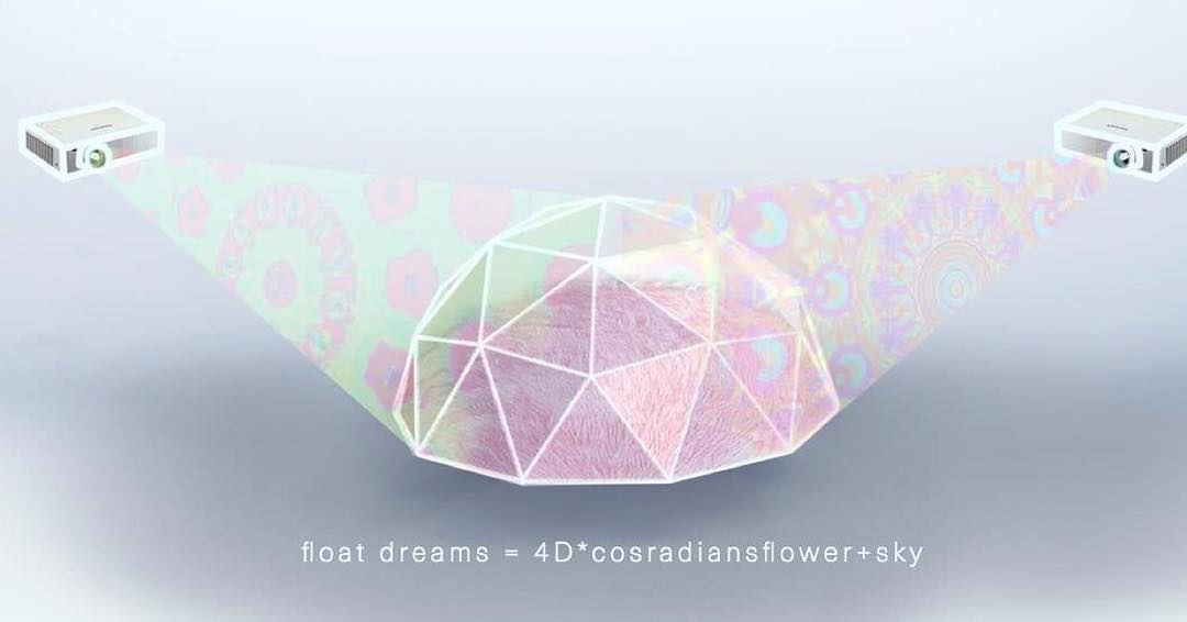 cybertwee projection mapped geodesic dome